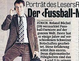 Portrait vom Fussballmanager Roland Rino Büchel im Blick