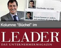 Meine Kolumnen im Unternehmermagazin LEADER