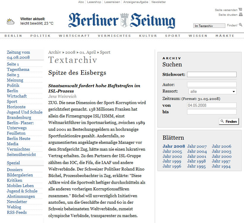 Berliner Zeitung: Spitze des Eisbergs