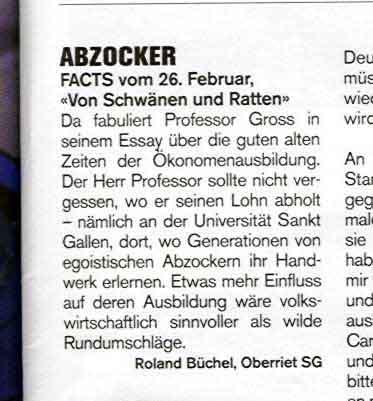 ABZOCKER - Facts vom 26. Februar: Von Schwaenen und Ratten