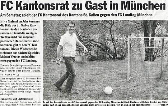 FC Kantonsrat zu Gast in München