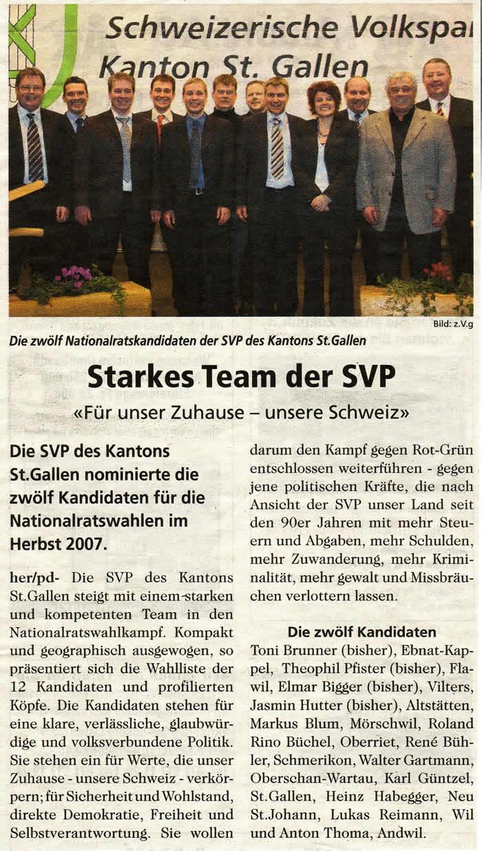 Starkes Team der SVP