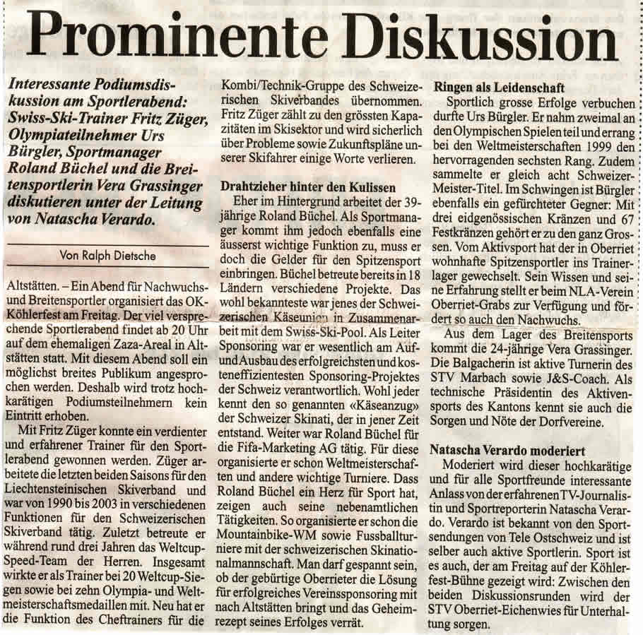 Prominente Diskussion