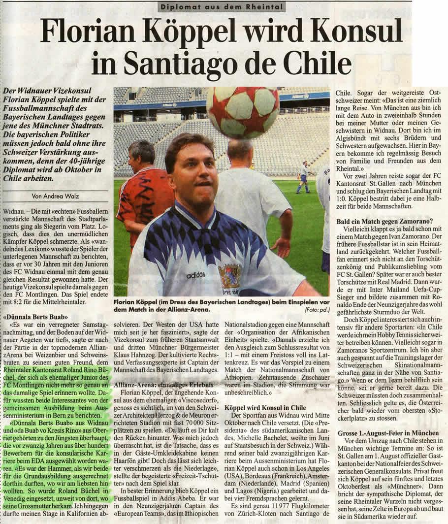 Florian Köppel wird Konsul in Santiago de Chile
