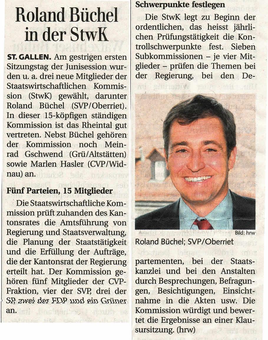 Roland Büchel in der StwK