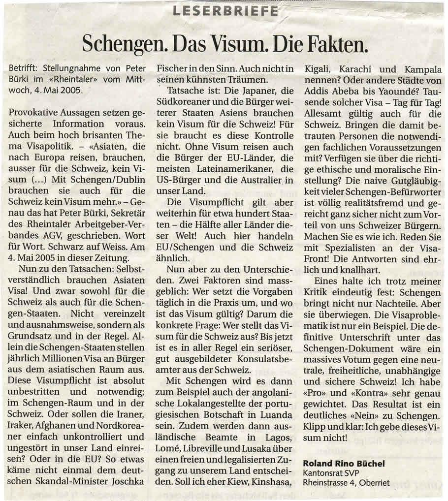 Schengen. Das Visum. Die Fakten.