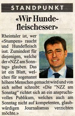 Wir Hundefleischesser: Standpunkt Roland Rino Büchel