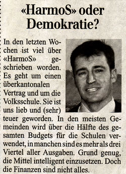 HarmoS oder Demokratie von Roland Rino Büchel