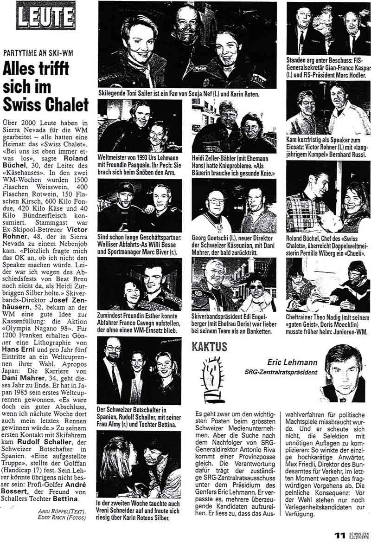 Alles trifft sich im Swiss Chalet