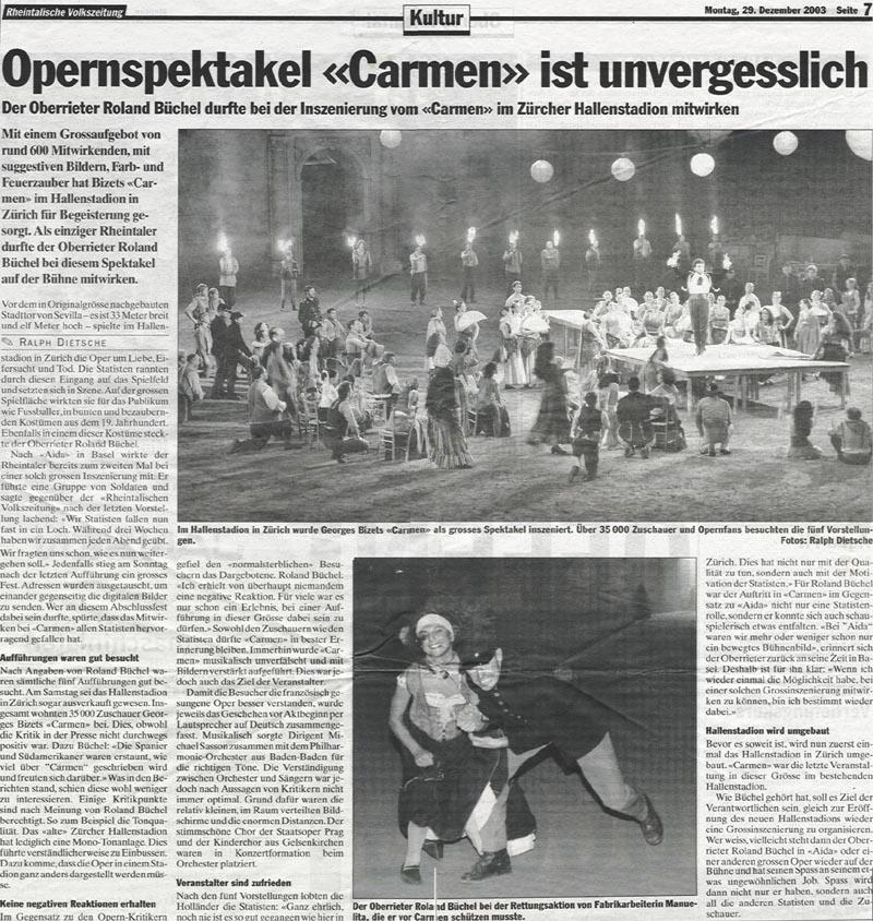Opernspektakel Carmen ist unvergessslich