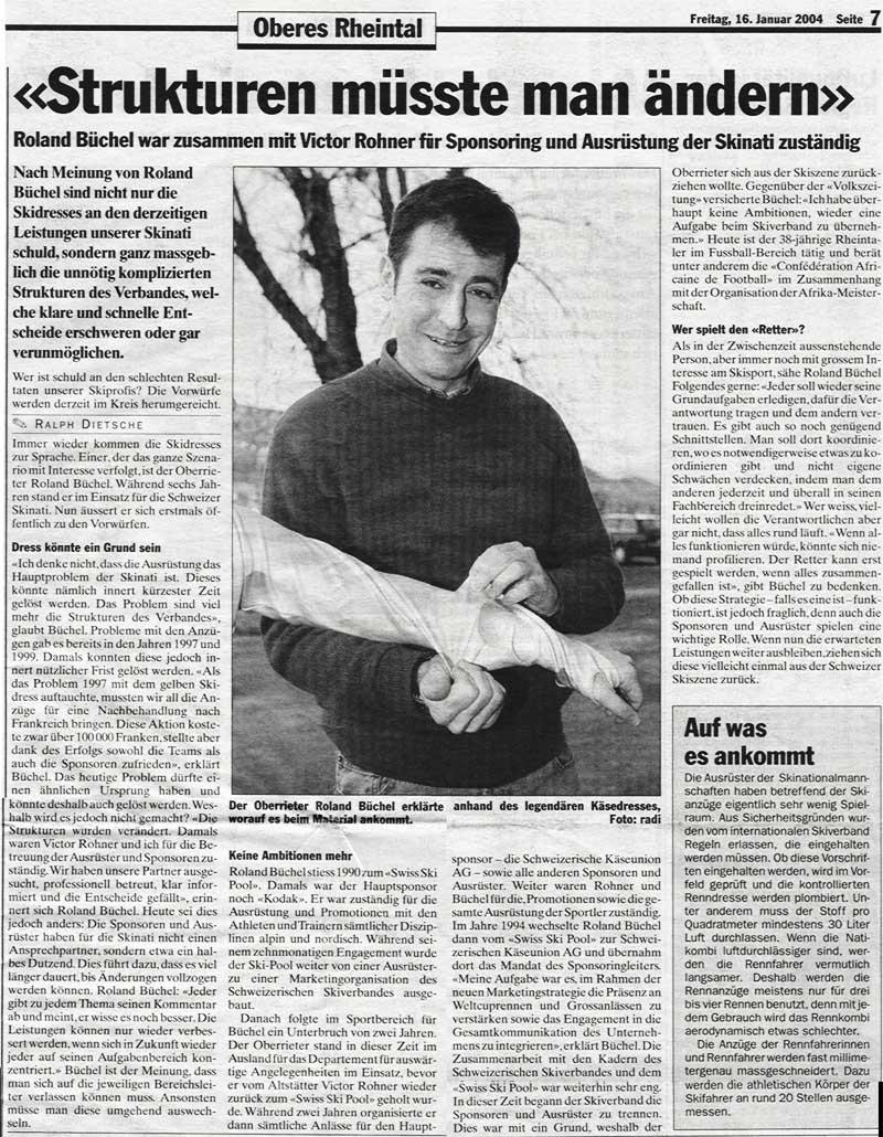 Strukturen müsste man ändern - aus der Rheintalischen Volkszeitung