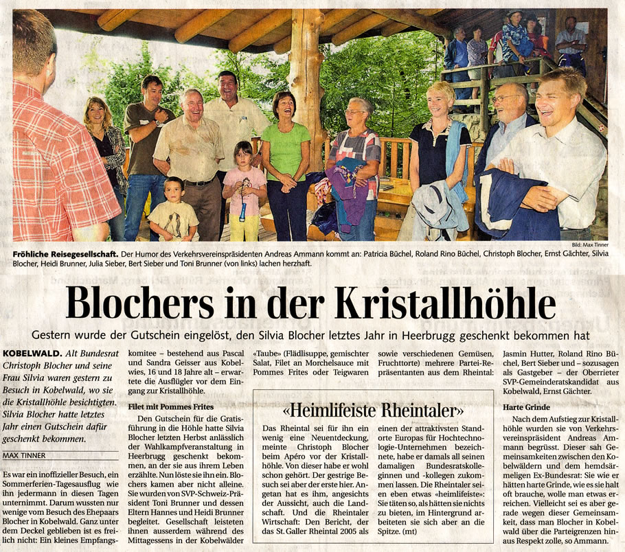 Blochers in der Kirstallhöhle