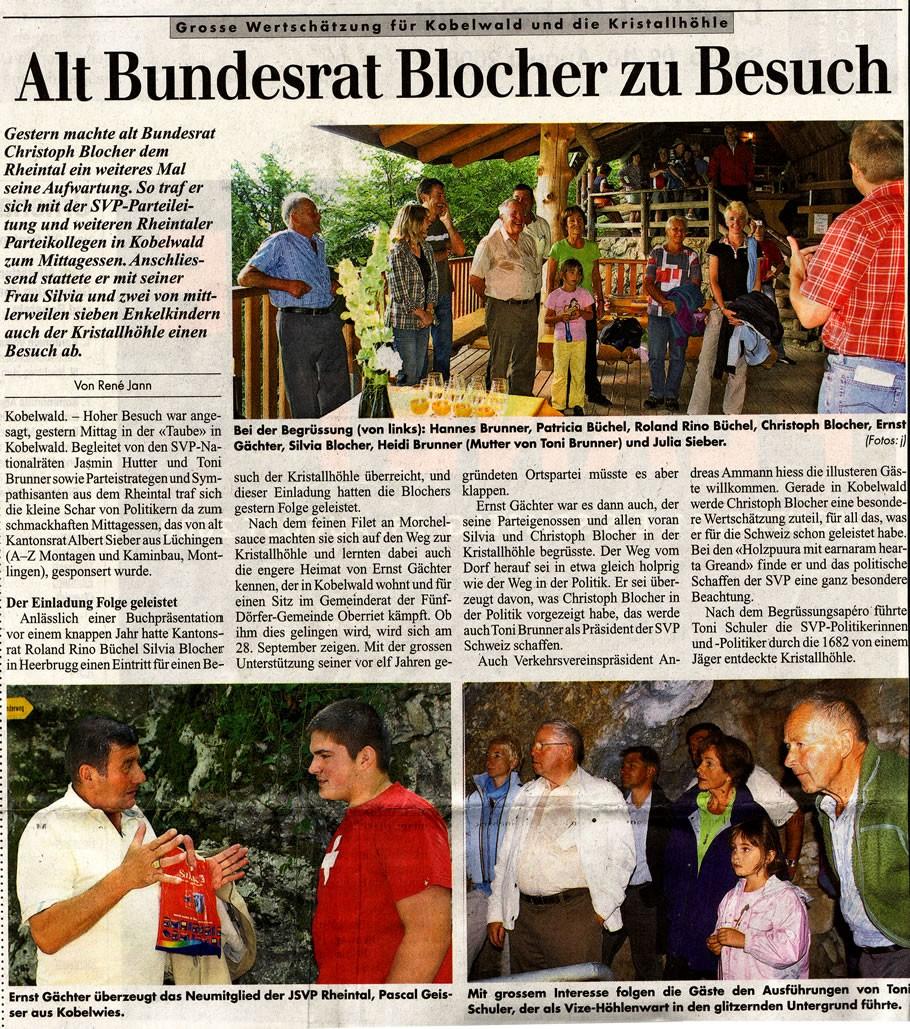 Alt Bundesrat Blocher zu Besuch