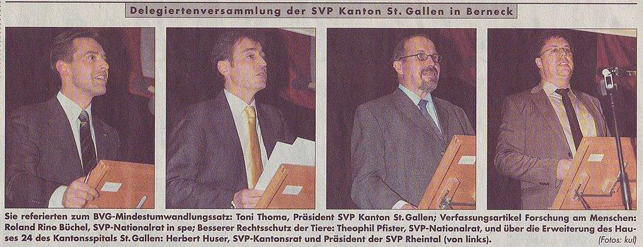 Rheintalische Volkszeitung vom 29. Januar 2010