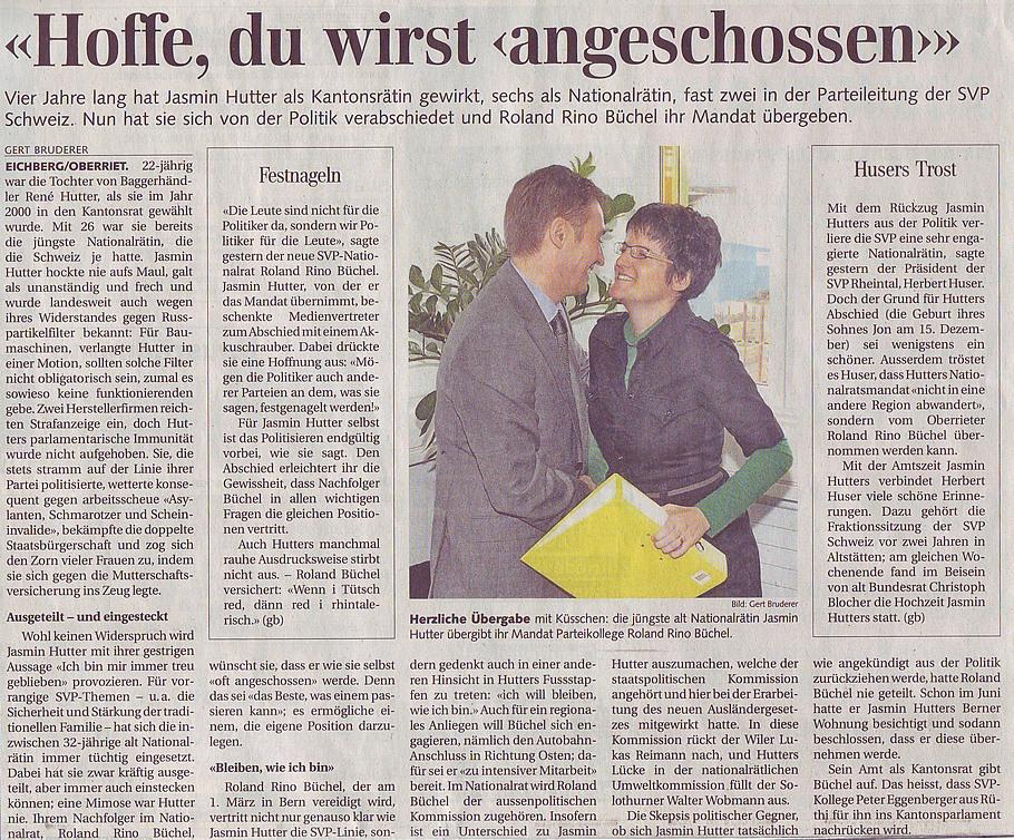 Der Rheintaler: Hoffe, du wirst angeschossen