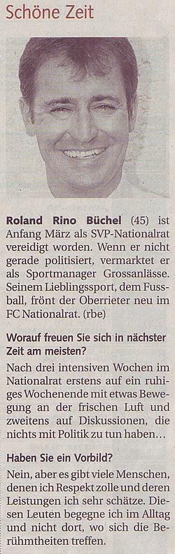 St. Galler Tagblatt - Schöne Zeit