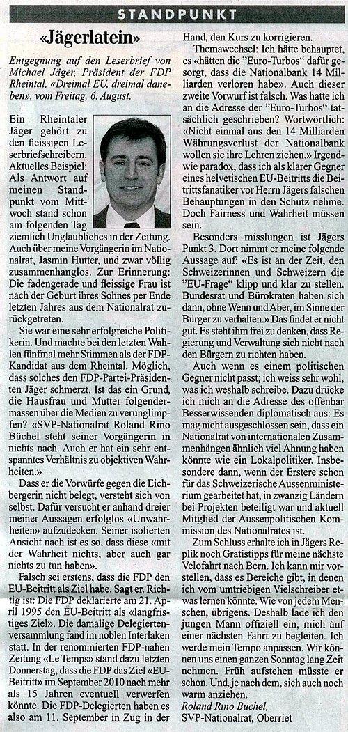 Rheintalische Volkszeitung: Jägerlatein