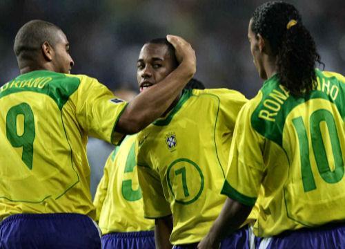 Champions im Torrausch: Adriano, Robinho und Ronaldinho