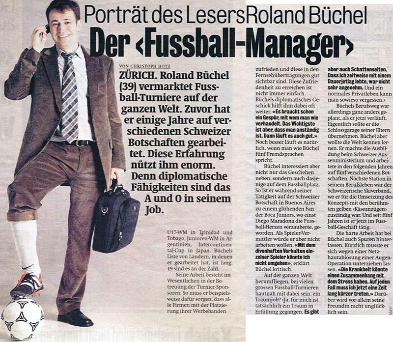 Der Fussball-Manager - Blick vom 12. März 2005