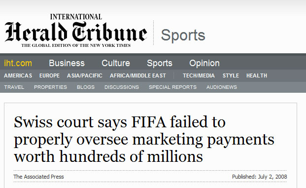 Swiss court says FIFA failed to properly oversee marketing payments worth hundreds of millions