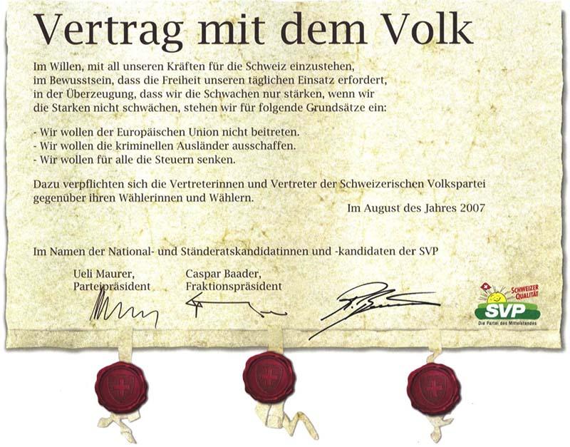 Roland Rino Büchel: Vertrag mit dem Volk