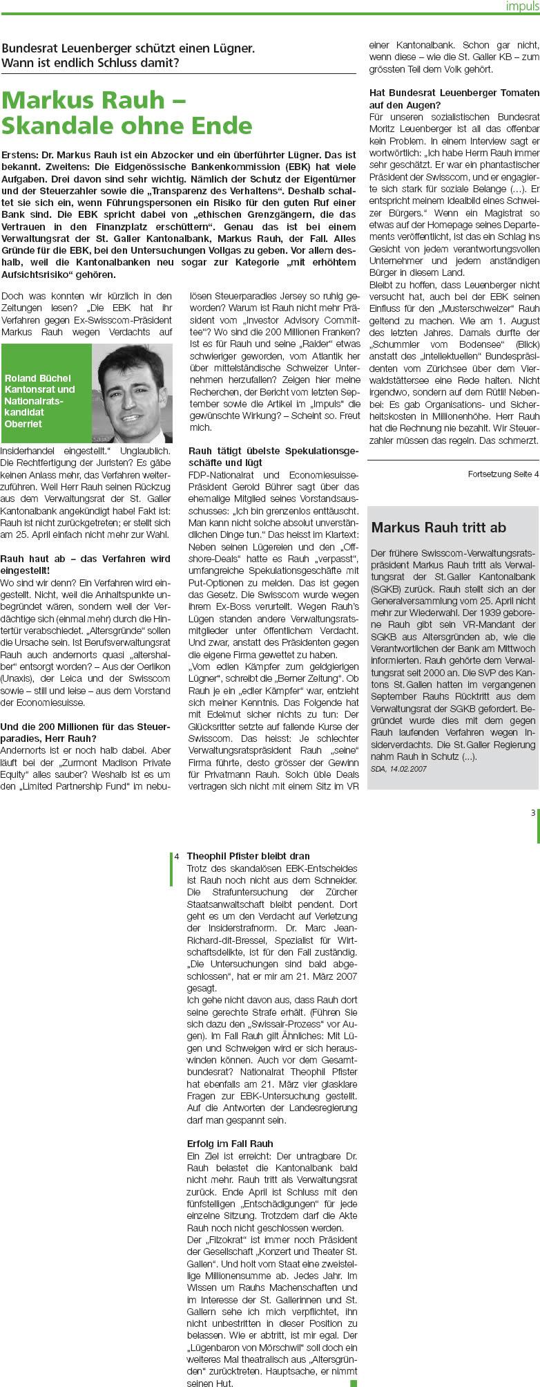 Markus Rauh - Skandale ohne Ende