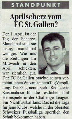 Aprilscherz vom FC St. Gallen?