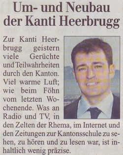 Um- und Neubau der Kanti Heerbrugg