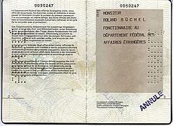 Dienstpass des EDA von Roland Büchel