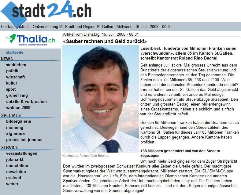 Roland Rino Büchel: Sauber rechnen und Geld zurück!