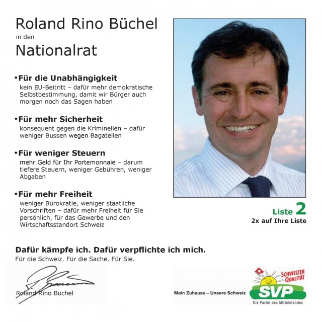 Flyer Roland Rino Büchel 2007