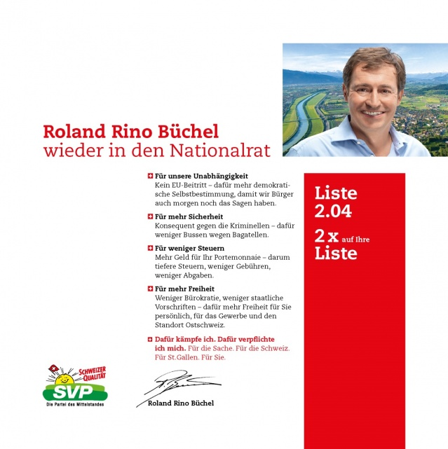 Flyer Roland Rino Büchel 2011
