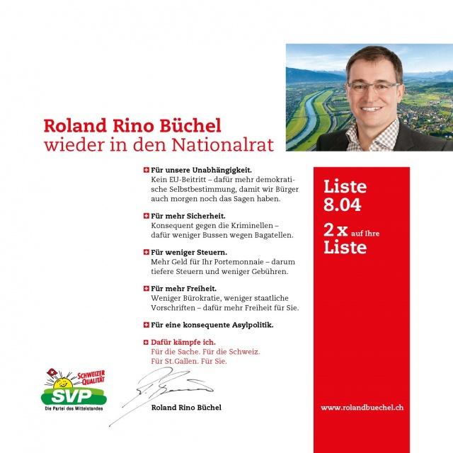 Flyer Roland Rino Büchel 2015