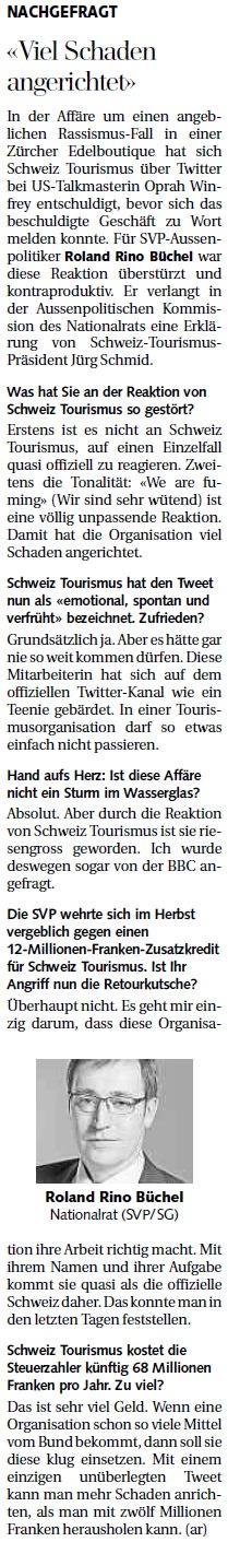 St. Galler Tagblatt: Viel Schaden angerichtet
