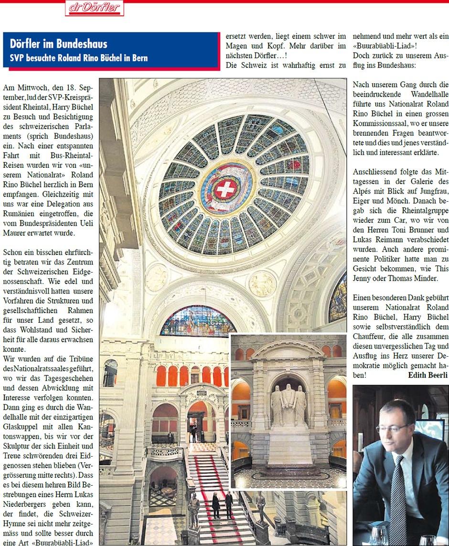 Dr Dörfler: Besuch im Bundeshaus