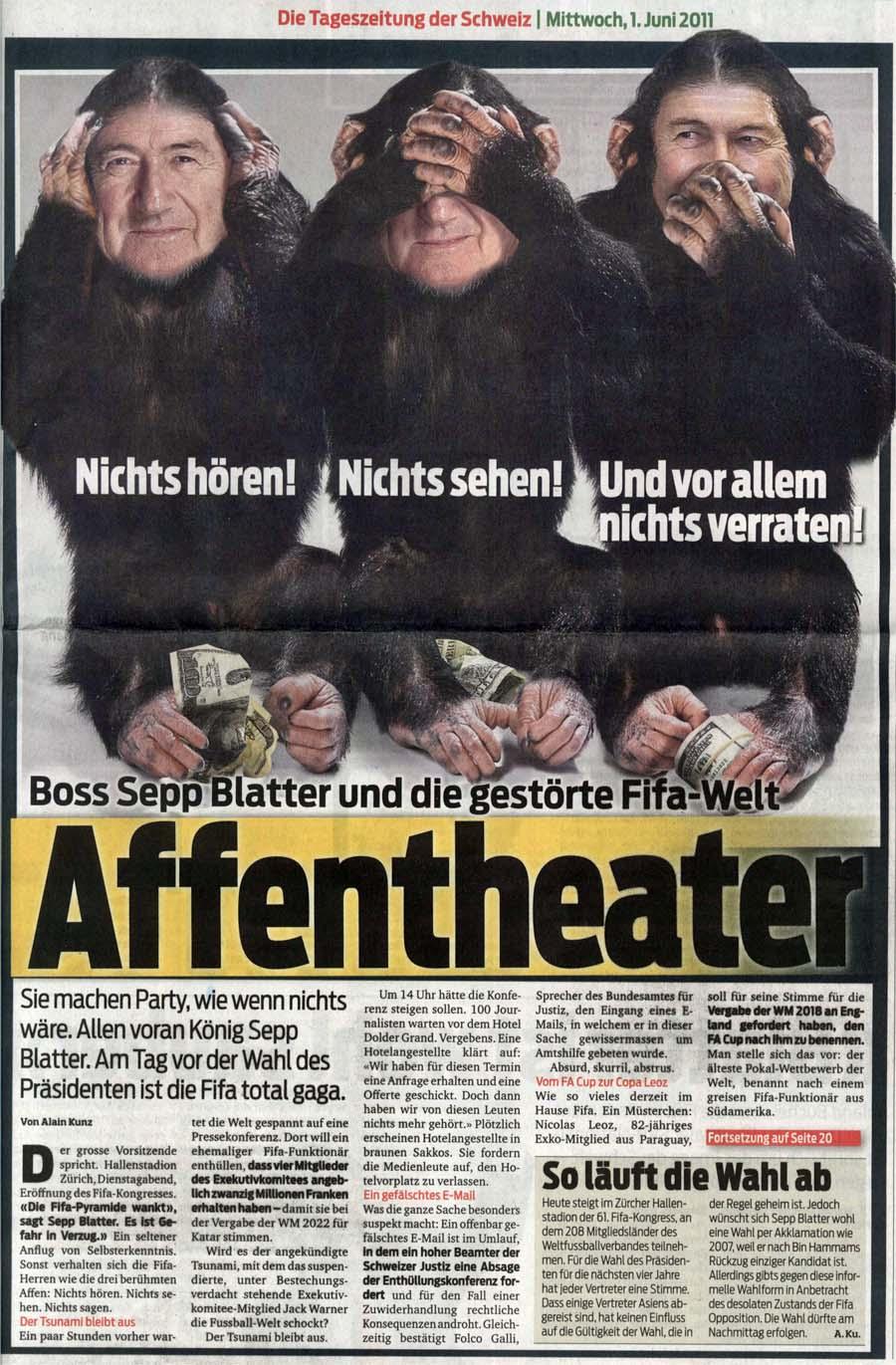 Affentheater um Sepp Blatter: Die gestörte Fifa Welt