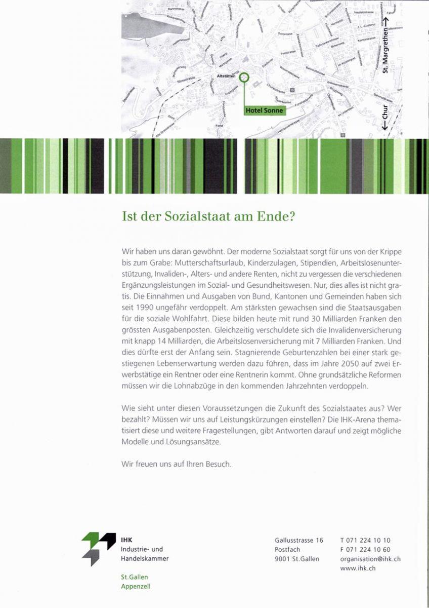 IHK Podium: Ist der Sozialstaat am Ende? (Mit SVP Nationalrat Roland Rino Büchel)
