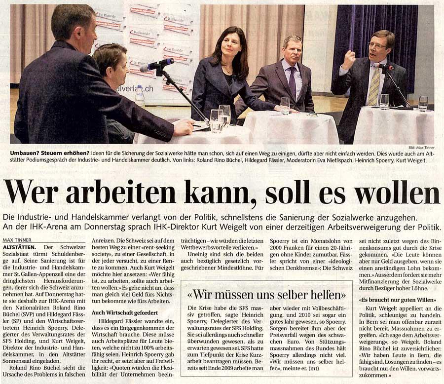 IHK-Podium: Sozialstaat wohin?