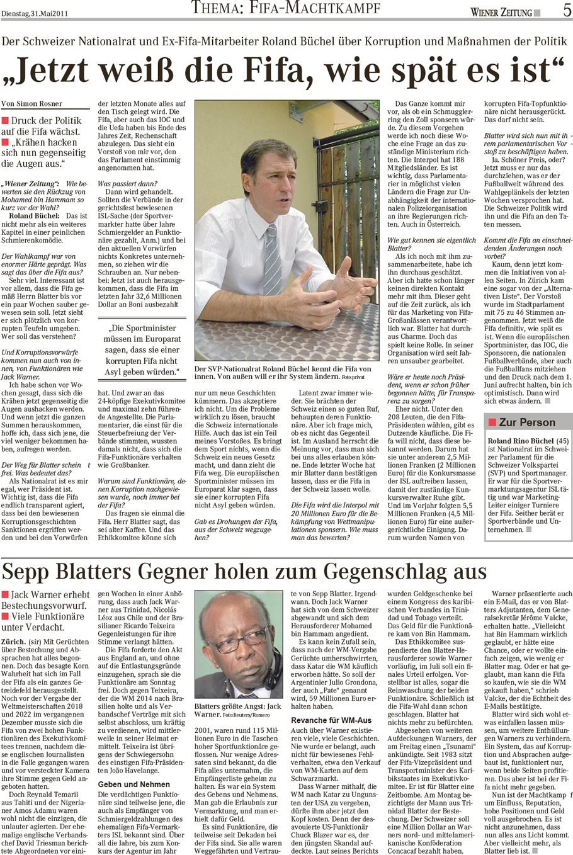 Wiener Zeitung: Jetzt weiss die FIFA, wie spät es ist
