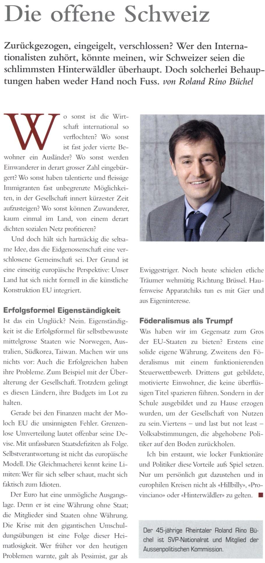 LEADER: Die offene Schweiz