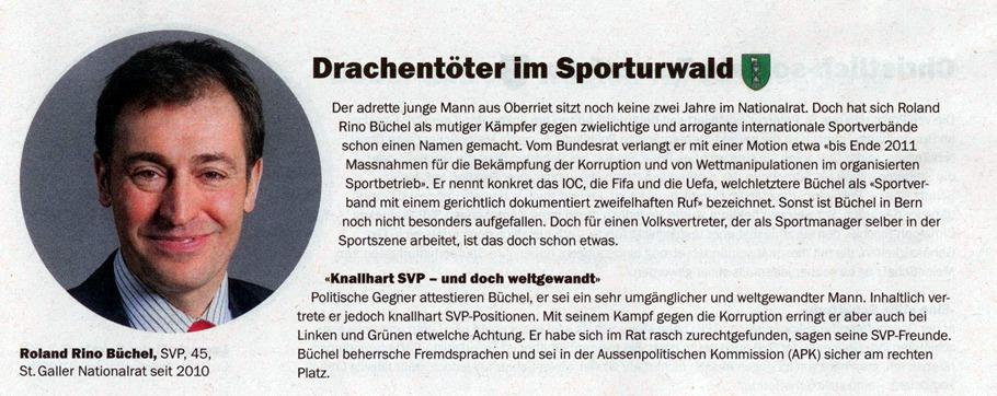 Roland Rino Büchel: Drachentöter im Sporturwald