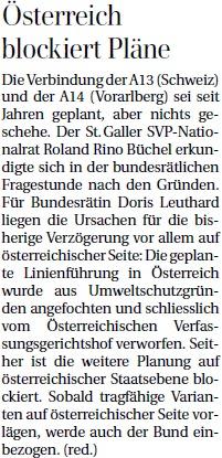 Österreich blockiert Pläne