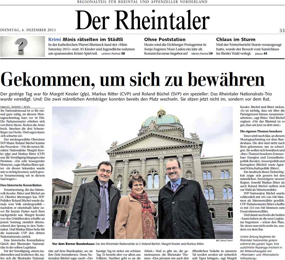 Der Rheintaler: Gekommen, um sich zu bewähren
