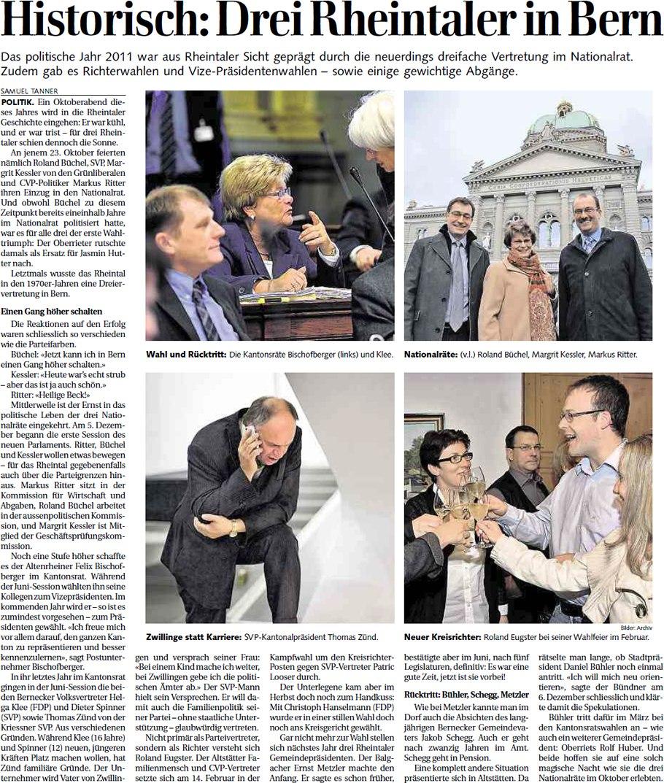 Der Rheintaler: Historisch: Drei Rheintaler in Bern