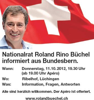 Roland Rino Büchel berichtet aus Bundesbern