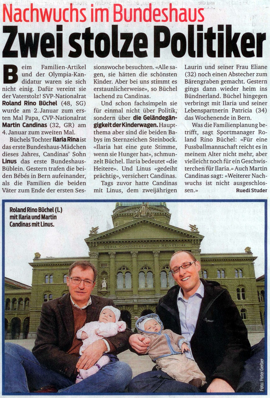 Blick: Bundeshaus-Baby Nummer eins und zwei