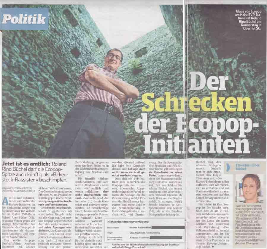 Blick: Schrecken der Ecopo-Initianten