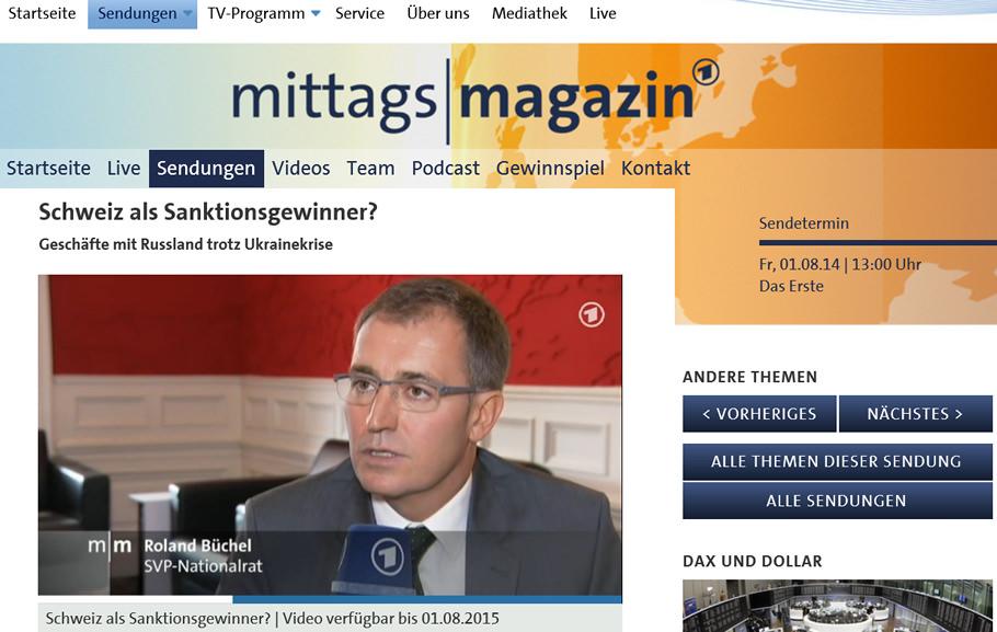 ARD Mittagsmagazin: Russland-Sanktionen