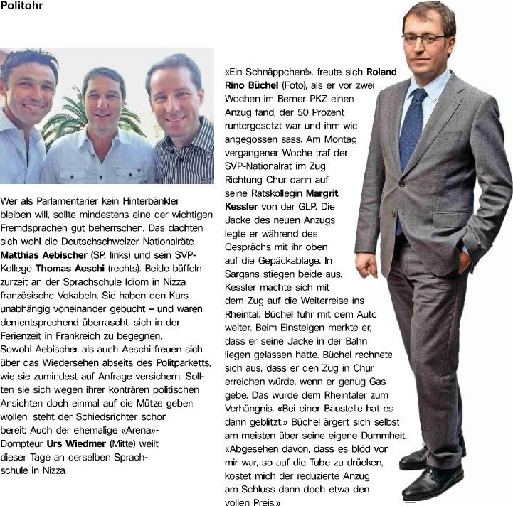 Sonntags-Zeitung: Teurer Anzug