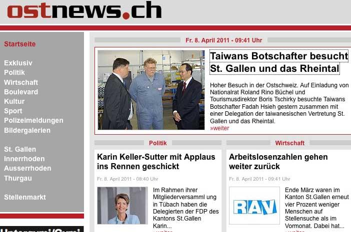 Ostnews.ch: Tawains Botschafter zu Besuch in St. Galler Rheintal / Roland Rino Büchel